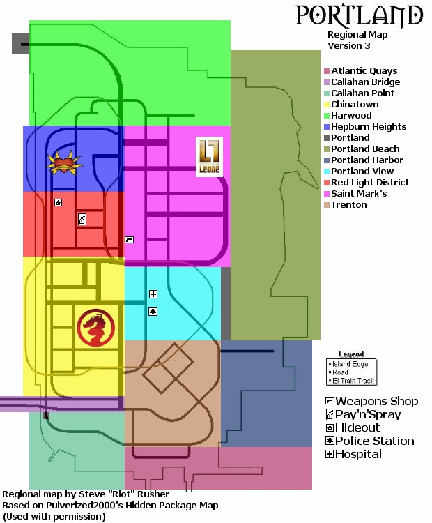 Карта оружия GTA 3
